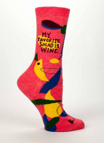 My Favourite Salad Is Wine Socks - Women