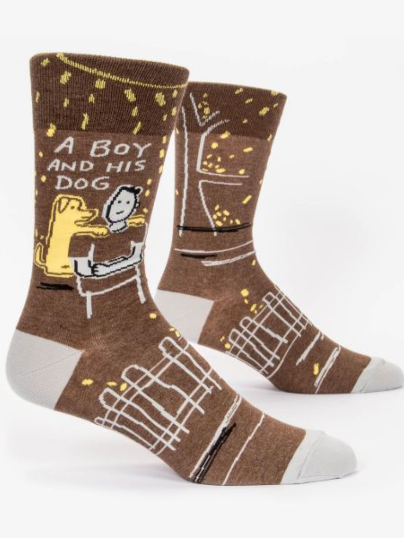 A Boy And His Dog Socks - Men