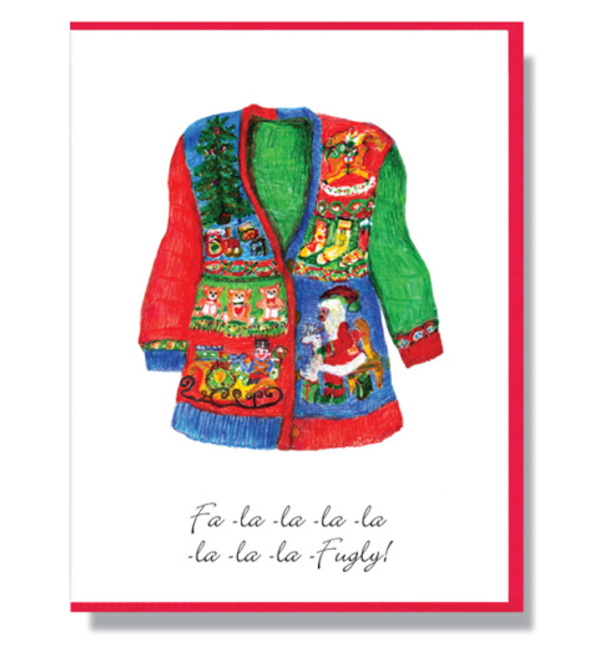 Fugly Sweater - Greeting Card