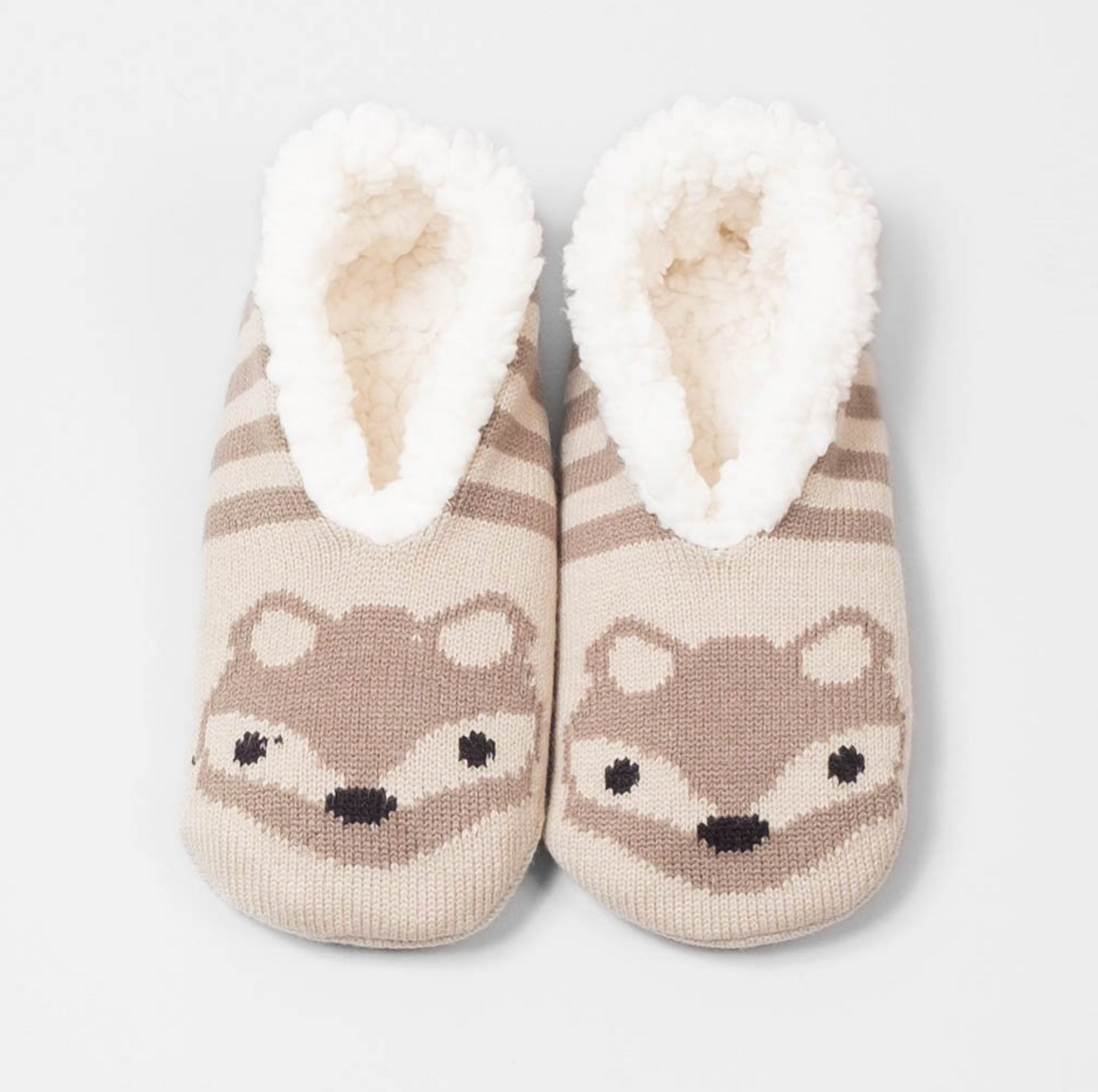 Animal Plush Ankle Slipper Sock - Fox
