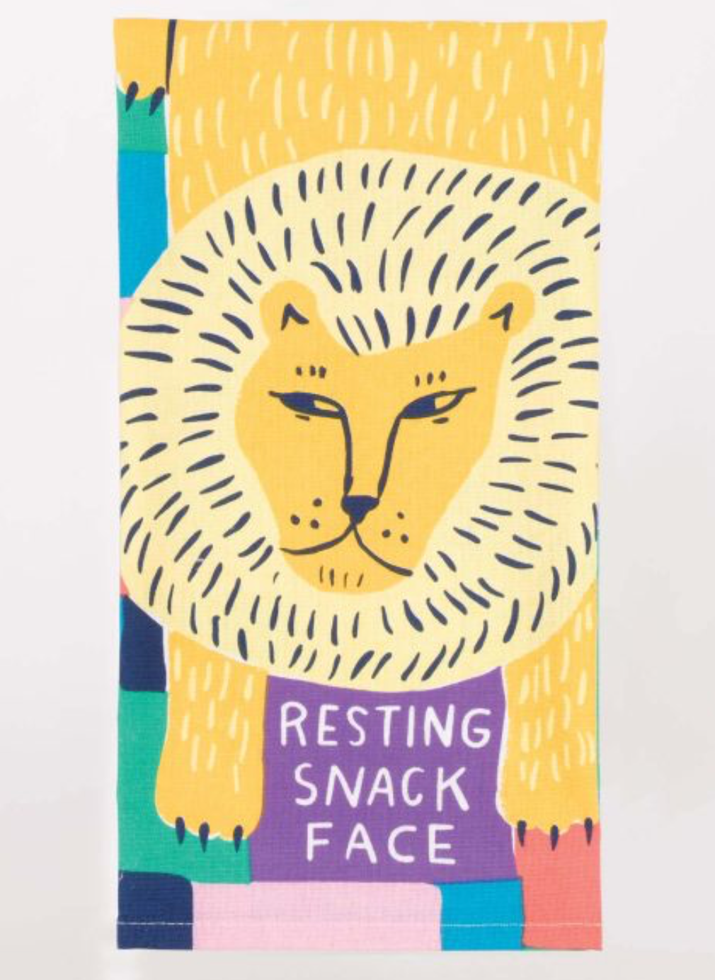 Resting Snack Face - Dish Towel