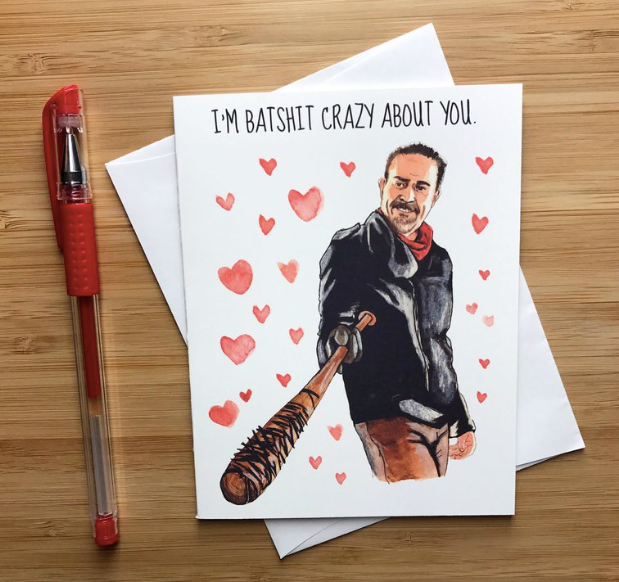 Batshit Crazy About You - Greeting Card