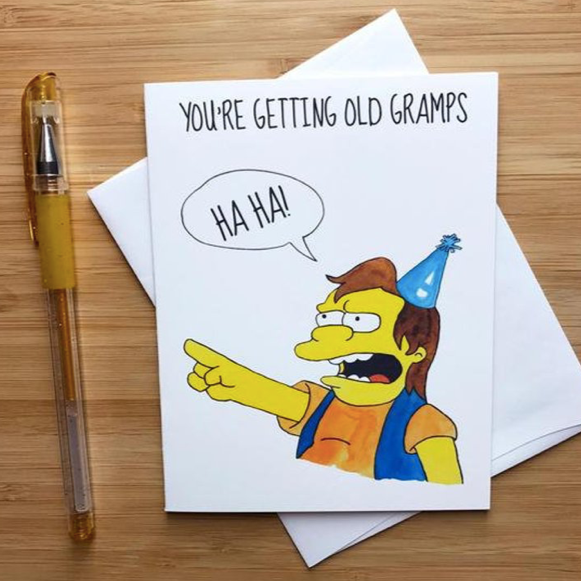 Nelson Muntz (Simpsons) Birthday  - Greeting Card