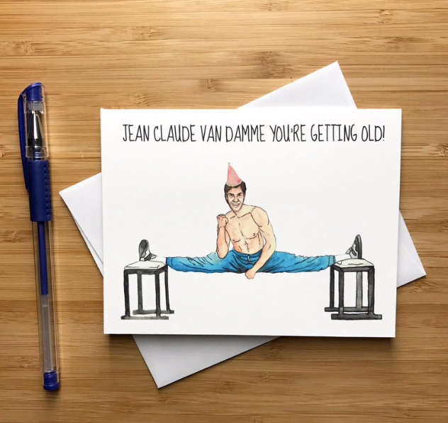 Jean Claude Van Damme Birthday  - Greeting Card