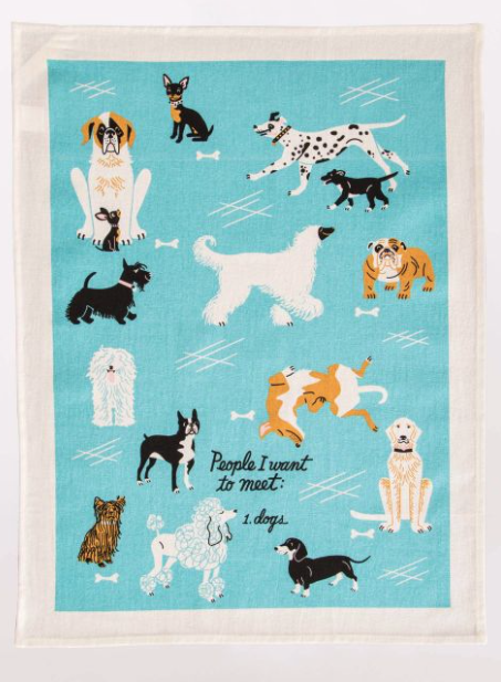 People To Meet: Dogs - Dish Towel