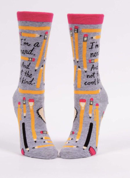 I'm A Nerd Socks  - Women