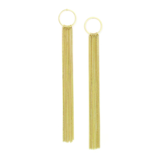 Gratzi Fringe Earrings - Gold | LOVER'S TEMPO