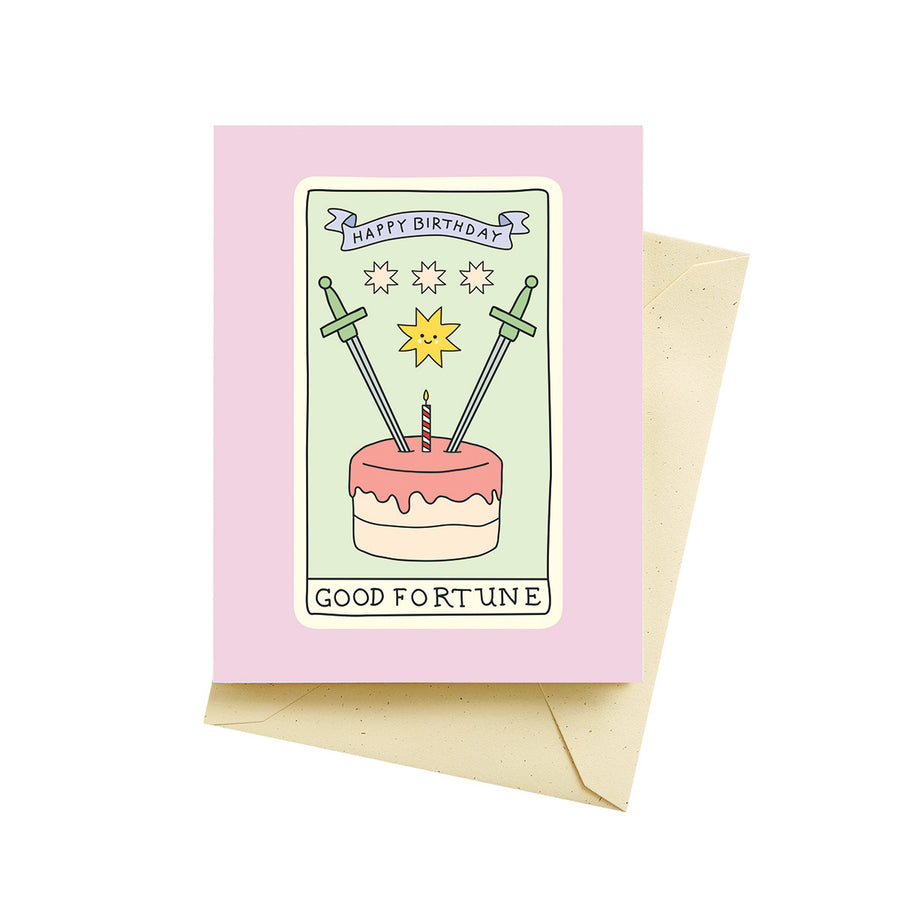 Tarot Card Birthday - Greeting Card