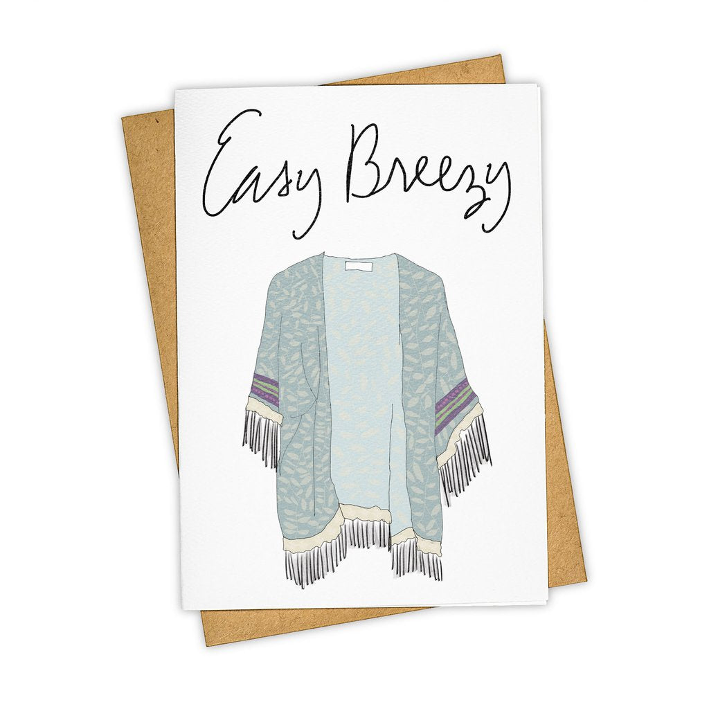 Easy Breezy - Greeting Card