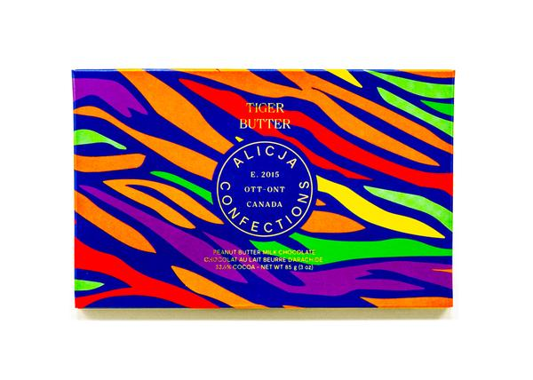 Tiger Butter - Postcard Chocolate Bar | ALICJA CONFECTIONS