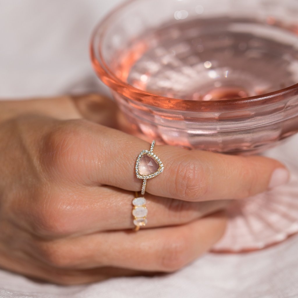 Trielle Ring - Rose Quartz