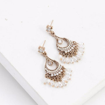 Coco Beaded Chandelier Earrings | LOVER'S TEMPO