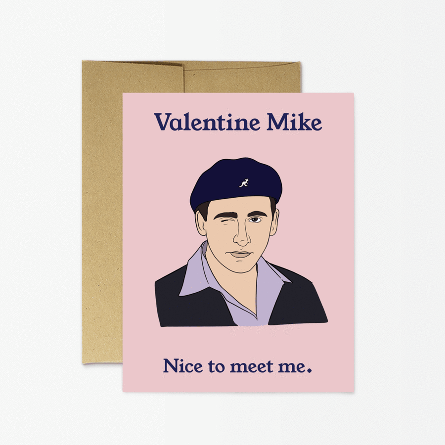 Valentine Mike - Greeting Card