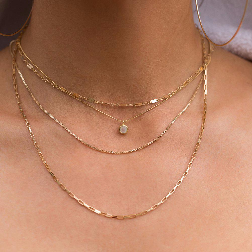 Minor Necklace - Moonstone | LEAH ALEXANDRA