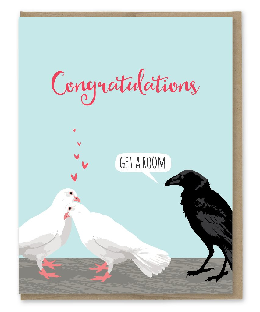 Congratulations Get A Room - Greeting Card