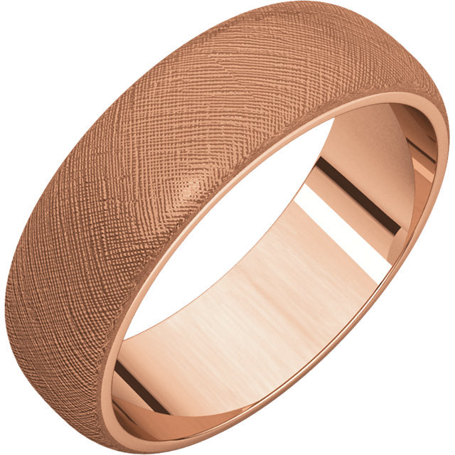 14K Rose Gold Florentine Ring