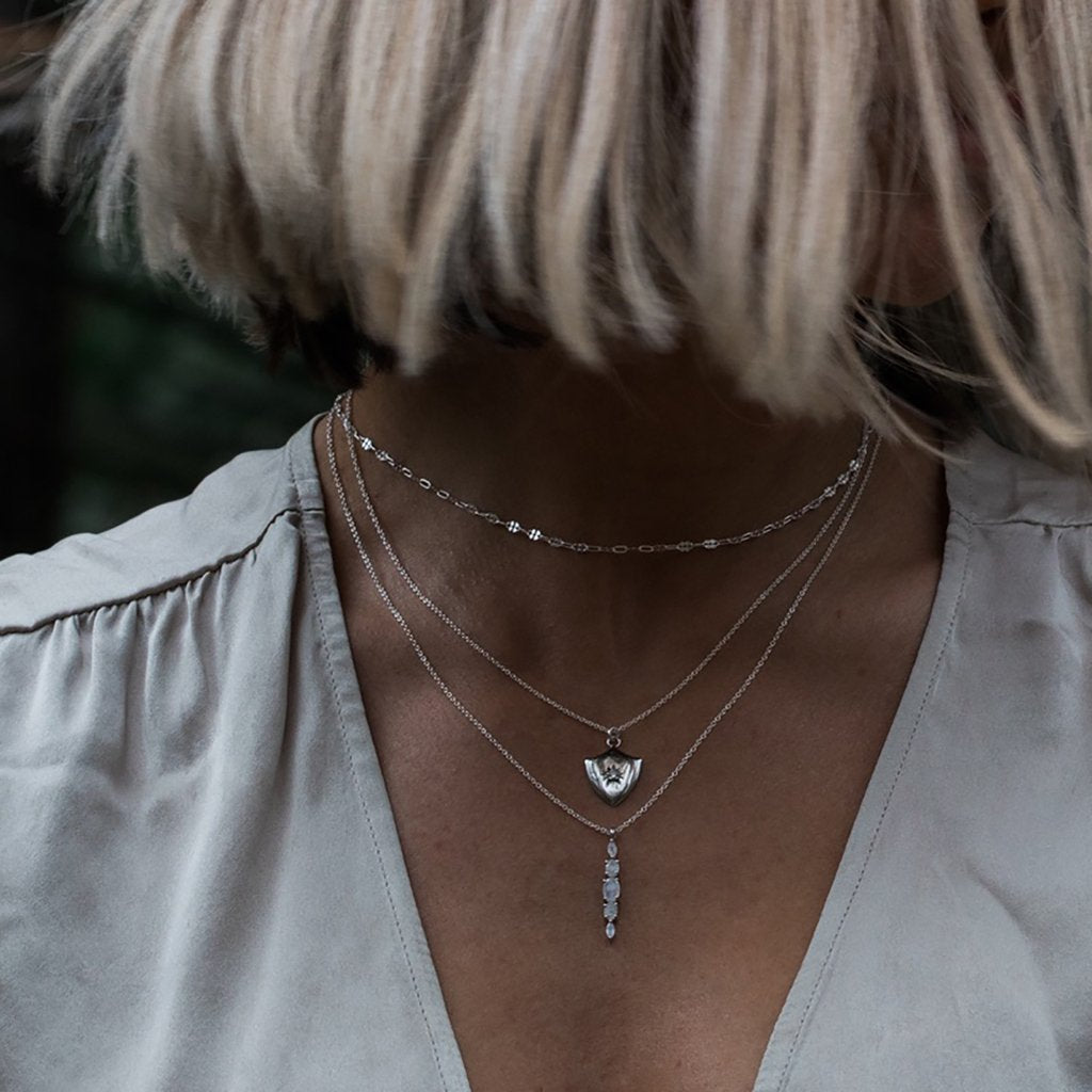 Halle Necklace - Moonstone