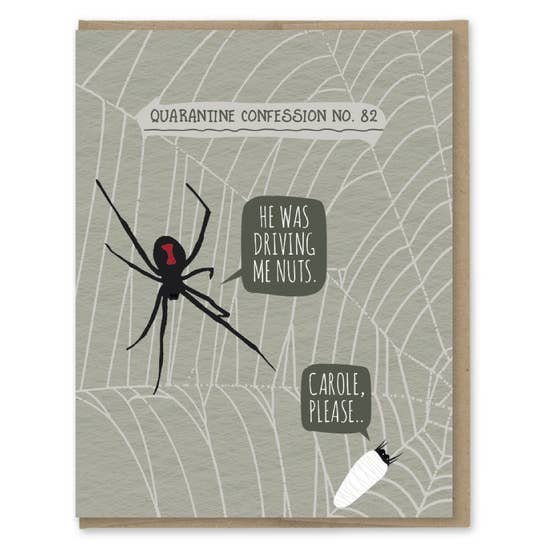 Quarantine Spider - Greeting Card