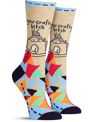 You Crafty B*tch Women's Crew Socks