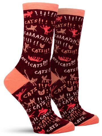 Blue Q Cats Women's Crew Socks