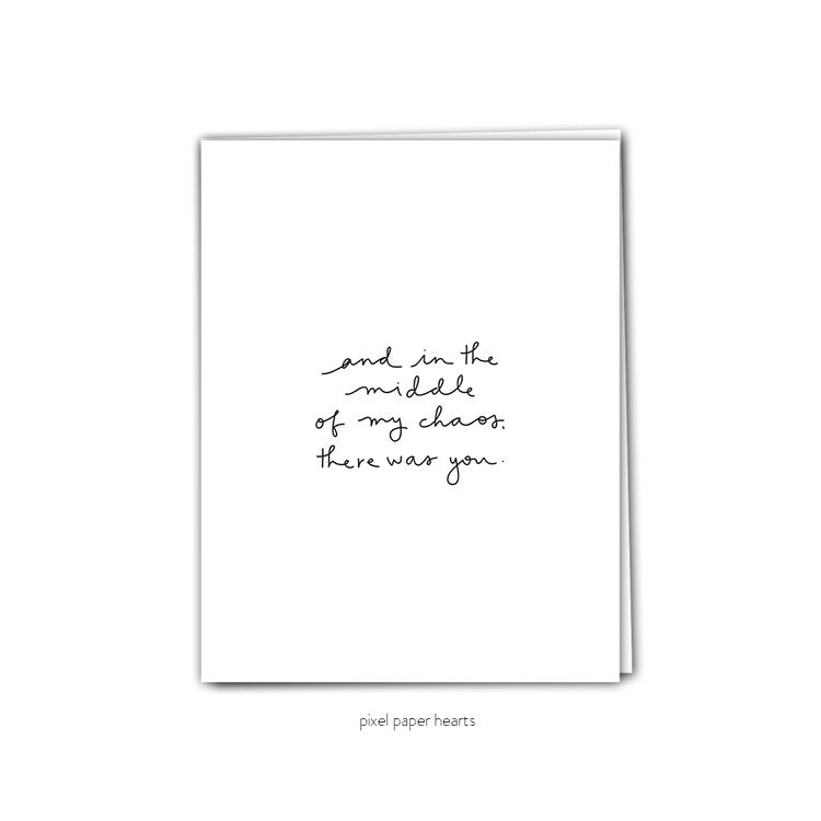 There Was You - Greeting Card
