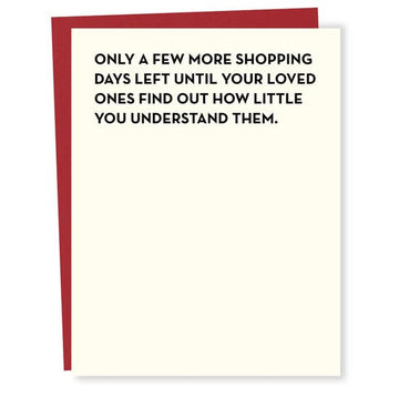 Shopping Days - Greeting Card