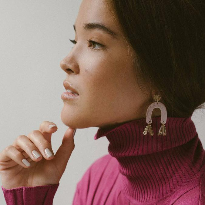Fette Statement Earrings - Mauve | LOVER'S TEMPO |JV Studios & Boutique