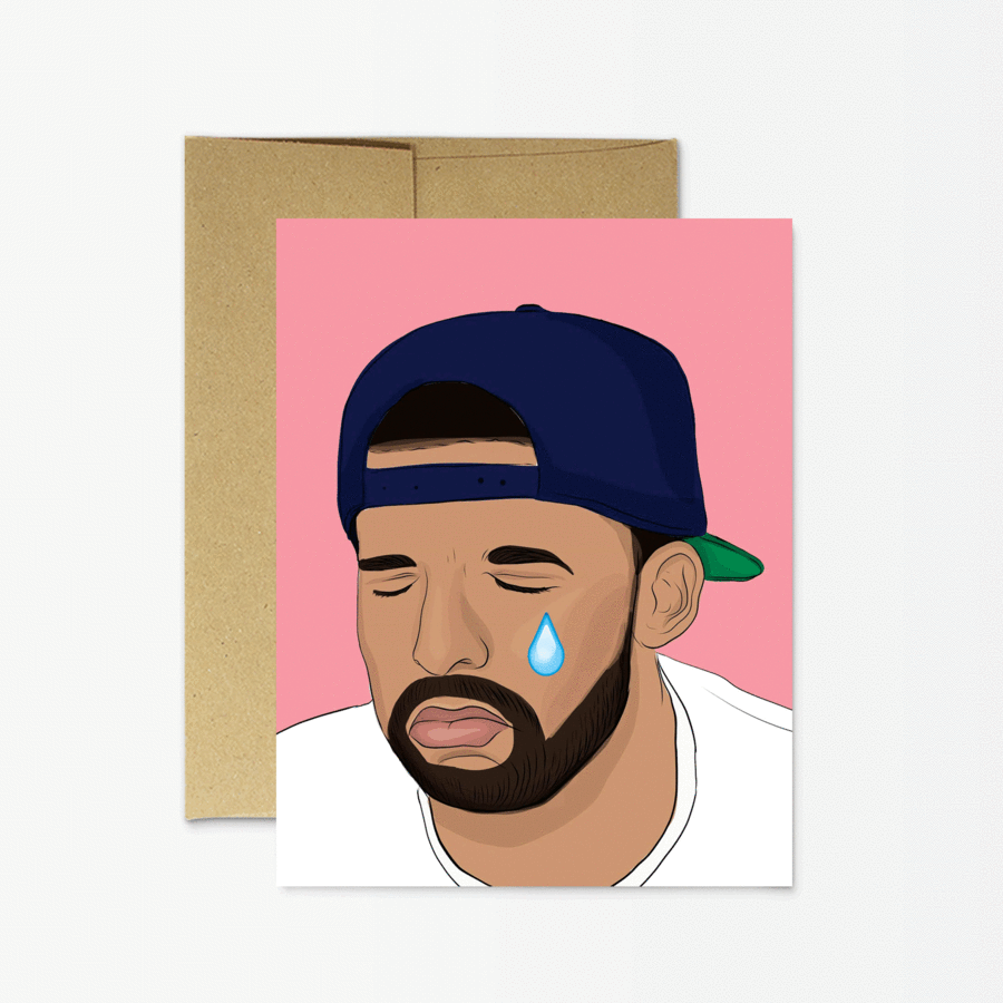 Drake Feels - Greeting Card