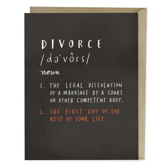 Divorce Definition - Greeting Card