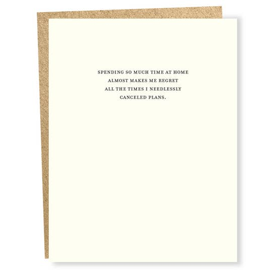 Regret - Greeting Card
