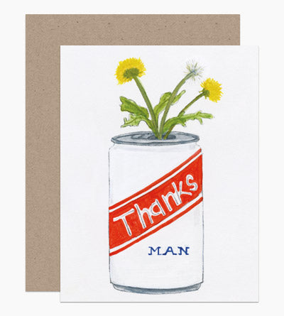 Thanks Man - Greeting Card