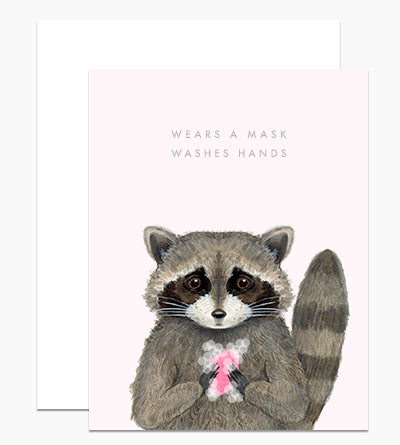 Wears A Mask & Washes Hands - Greeting Card