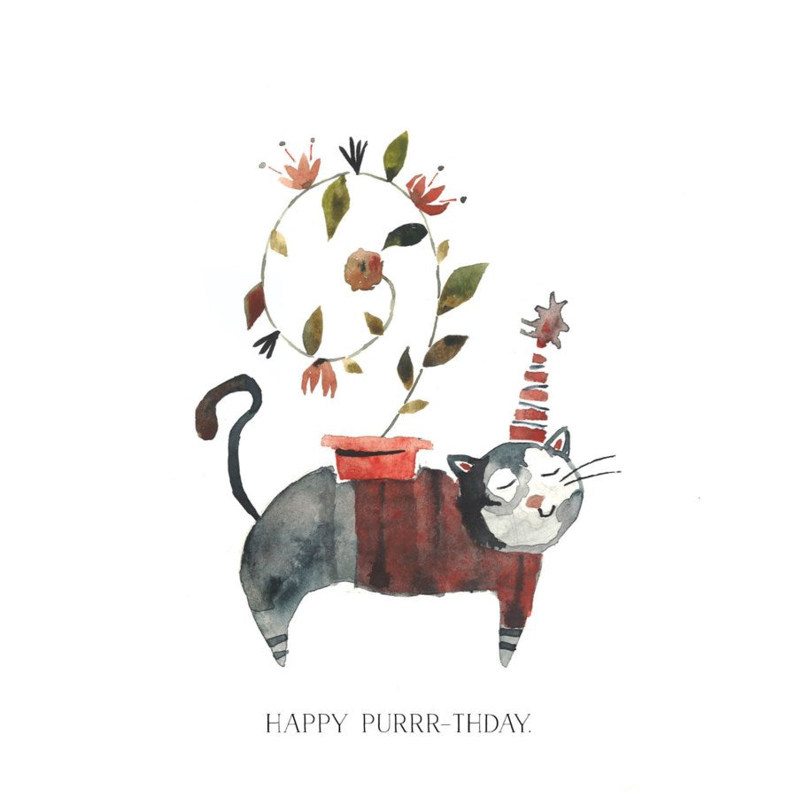 Happy Purrr-thday - Greeting Card