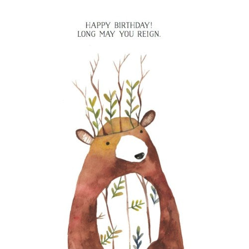 Bear King - Greeting Card
