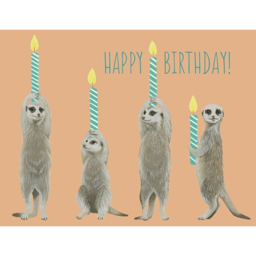 B-Day Prairie Dogs  - Greeting Card