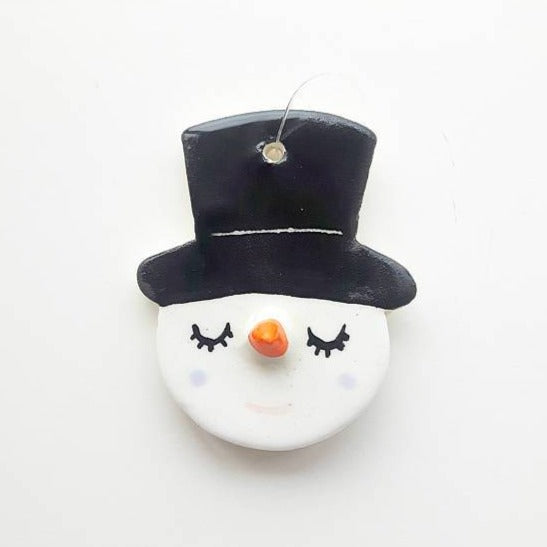 Sleepy Snowman Ornament