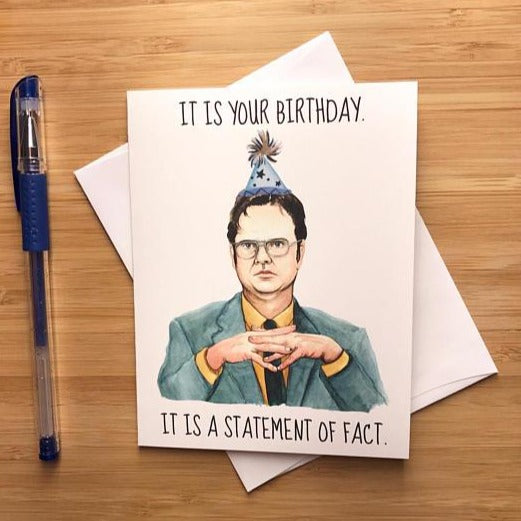 Dwight Schrute Birthday - Greeting Card