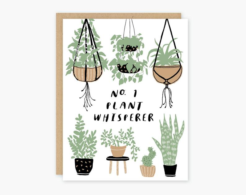 No. 1 Plant Whisperer - Greeting Card