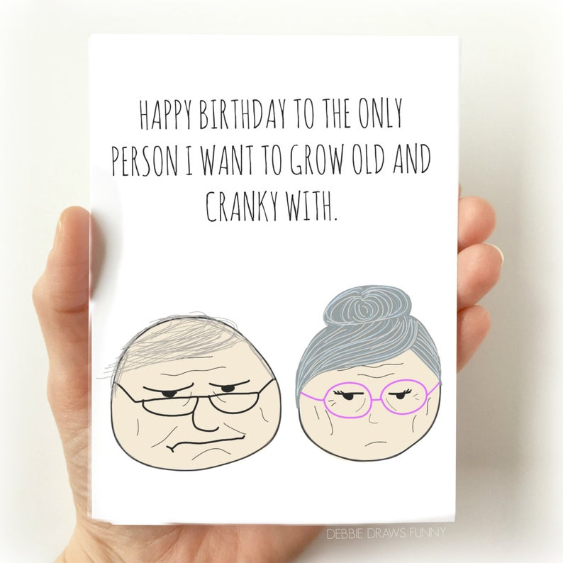 Old and Cranky - Greeting Card