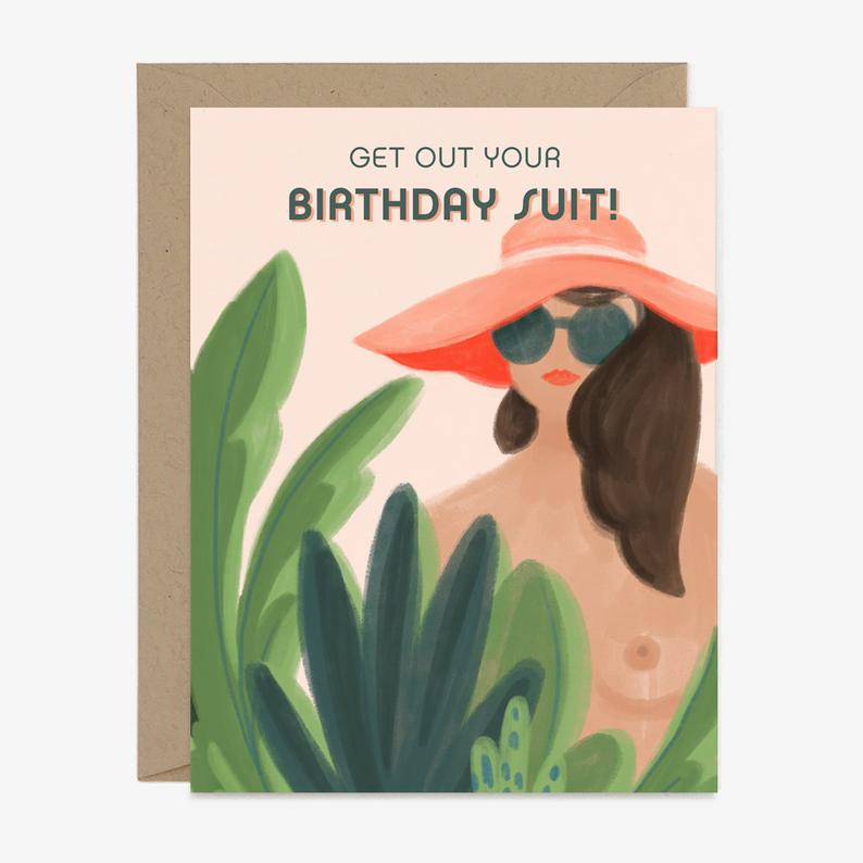 Birthday Suit - Greeting Card