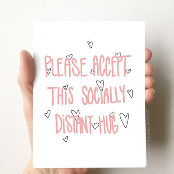 Socially Distant Hug - Greeting Card