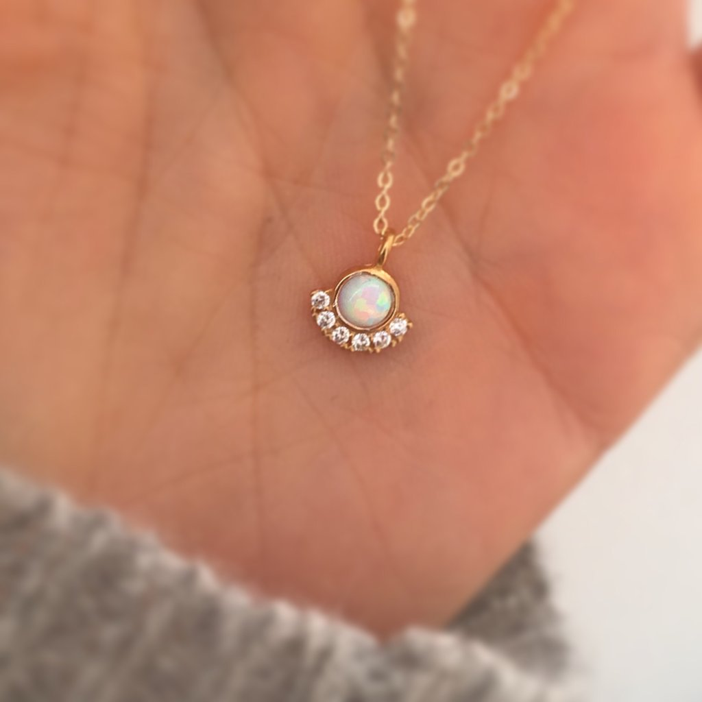 Opal & Parisian Sunset Necklace