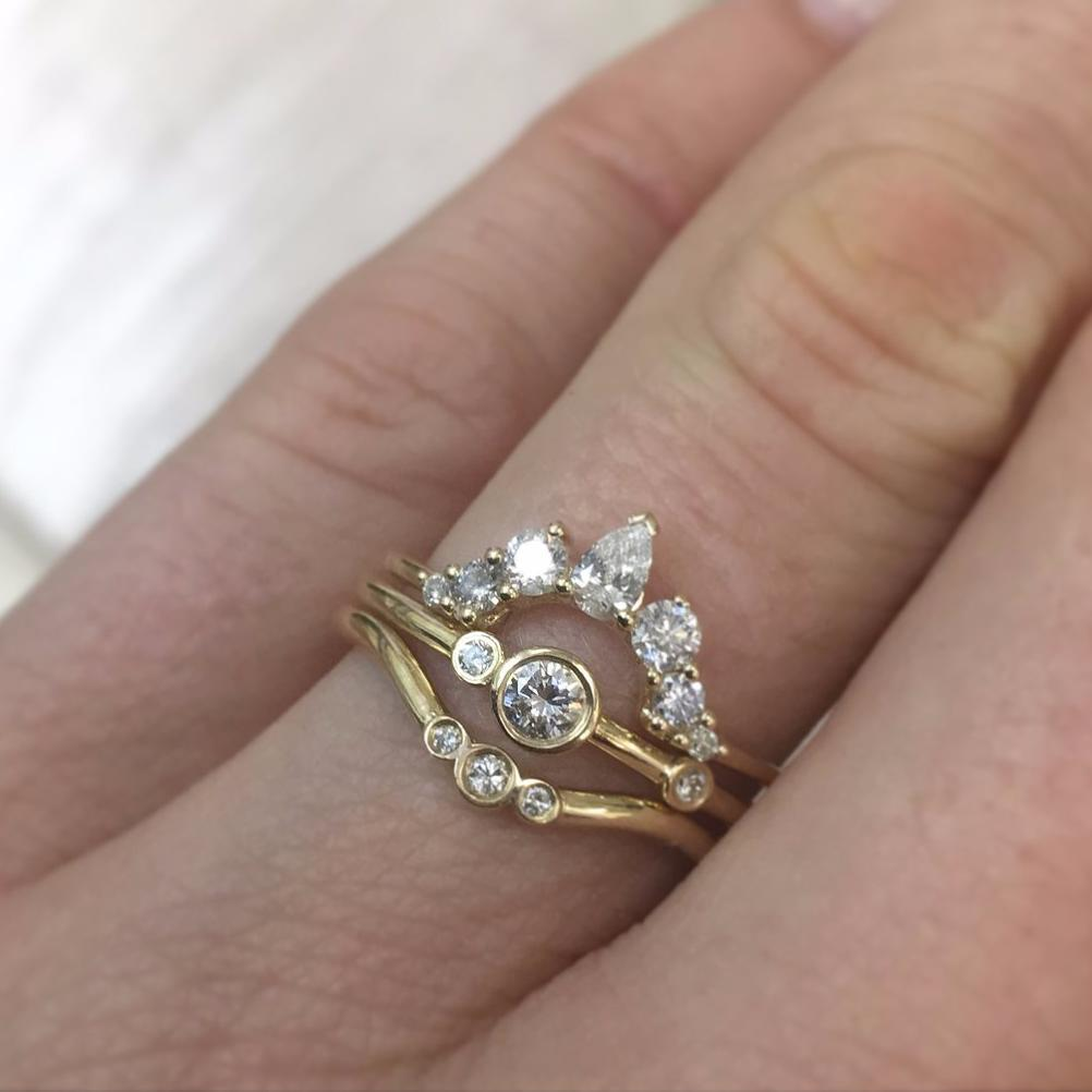 14K Gold Diamond Adele Ring | LA KAISER