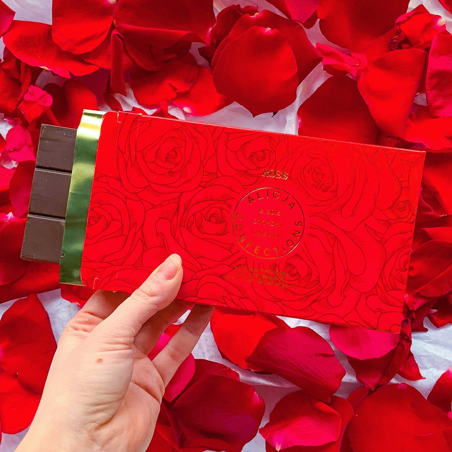 Rose - Postcard Chocolate Bar | ALICJA CONFECTIONS