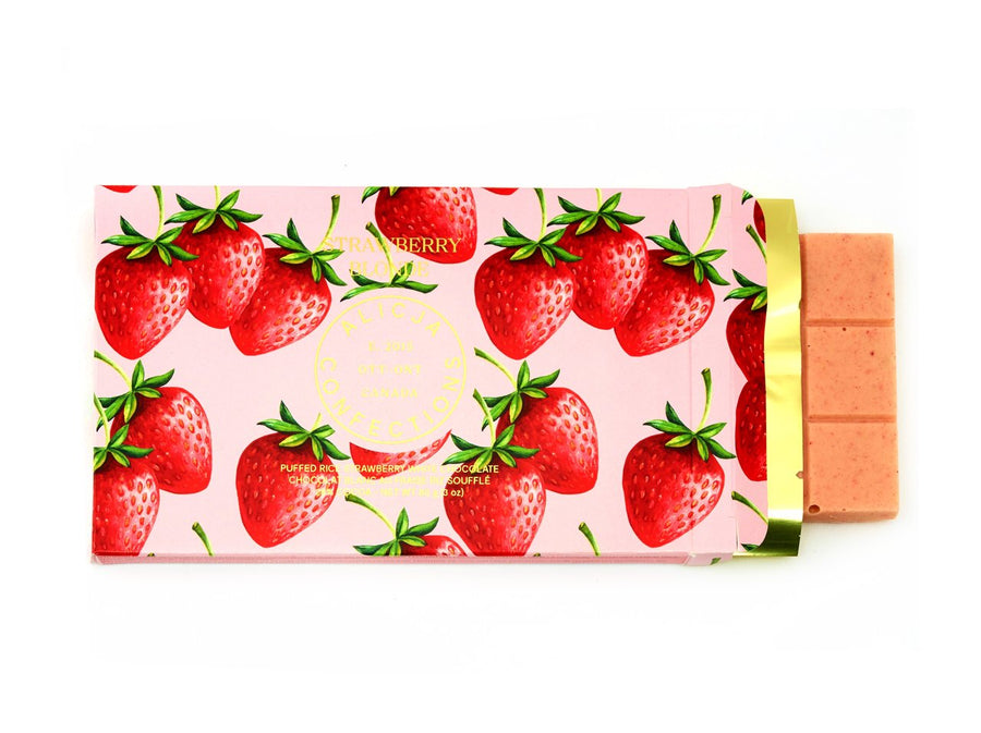 Strawberry Blonde - Postcard Chocolate Bar | ALICJA CONFECTIONS