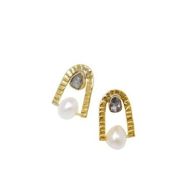 Lucky U Double Stone Stud | LISSA BOWIE