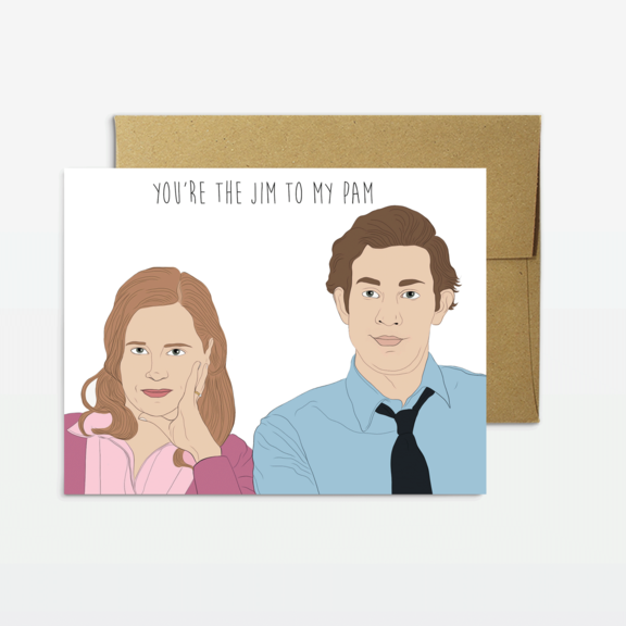 Jim To My Pam - Greeting Card