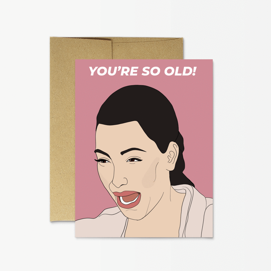 Kim K Birthday  - Greeting Card