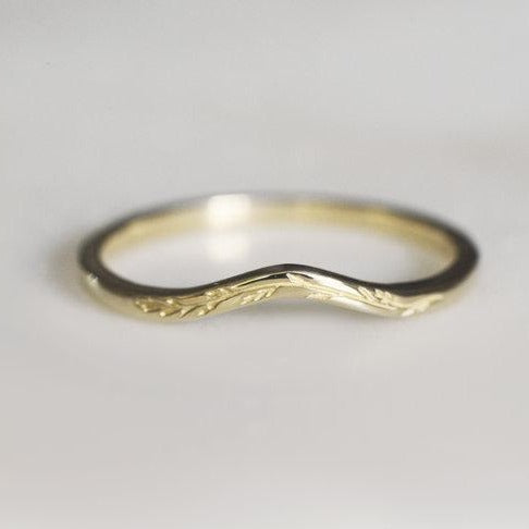 Curved Leafy Band - Brass | CLAUS JEWELRY