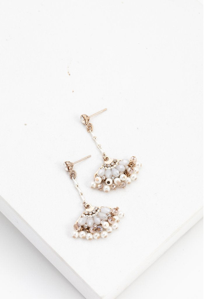 Magnolia Fan Drop Earrings | LOVER'S TEMPO